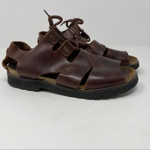 Naot Brown Leather Sandals 40